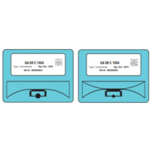 UHF RFID Windshield label...