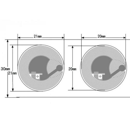 PET/Paper NFC-label 21mm...